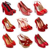 红色女鞋子-2 — 图库照片