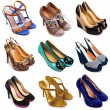 Multicolored female shoes-10 — Stock Photo