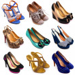 Multicolored female shoes-10 - Stock Photo