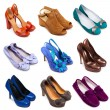Multicolored female shoes-11 — 图库照片