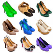 Multicolored female shoes-12 - Stock Photo