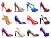 Multicolored female shoes-17 — Stock Photo