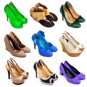 Multicolored female shoes-12 — Stock Photo