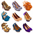 Multicolored female shoes-13 — 图库照片