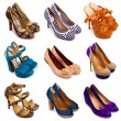 Multicolored female shoes-13 - Stock Photo
