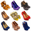 Multicolored female shoes-14 - Stock Photo