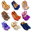 Multicolored female shoes-15 — 图库照片