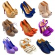 Multicolored female shoes-15 - Stock Photo