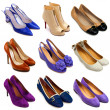 Multicolored female shoes-16 — Stok fotoğraf