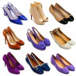 Multicolored female shoes-16 - Stock Photo
