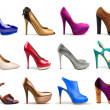 Multicolored female shoes — Stock Photo #11371595