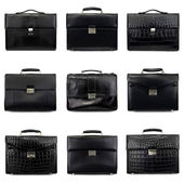 Dark male briefcases-1 — Stock Photo