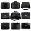 Dark male briefcases-2 - Stock Photo