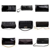 Tmavý ženské kabelky-4 — Stock fotografie