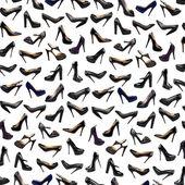 Black female shoes background-2 — Stock Photo