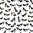Black female shoes background-3 — Stock Photo