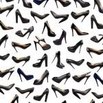 Black female shoes background-3 — Stock Photo