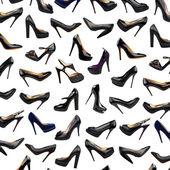 Svart kvinna skor bakgrund-3 — Stockfoto