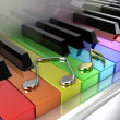 Rainbow piano — Stock Photo #11093869