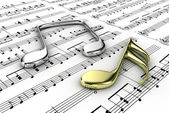 Musical notes — Stock Photo