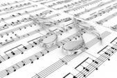 Notas musicais — Foto Stock