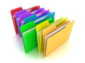 The folders — Stock Photo