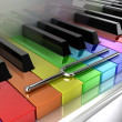 The multicoloured piano — Stock Photo #11741589