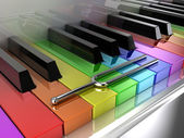 The multicoloured piano — Stock Photo