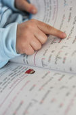 Child reading — Stock Photo
