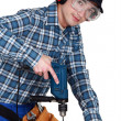 Stock Photo: Young carpenter.