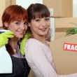 Girls moving — Stock Photo