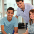 Stock Photo: Young working together