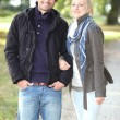 Couple walking in the park — Stock Photo #10838351
