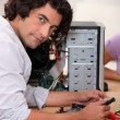 Stock Photo: Computer technician