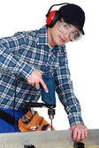 A young carpenter. — Stock Photo