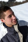 Teenager in the snow — Stock Photo