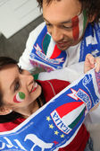 Excited Italian sports fans — Stock Photo