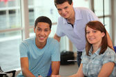 Young working together — Stock Photo