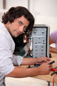 Computer technician — Stock Photo