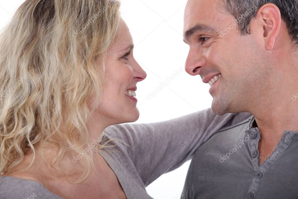 Mature couple embracing — Stock Photo #10831981