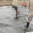 Stock Photo: Pouring concrete