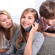 Teens on phone — Stock Photo #10841135