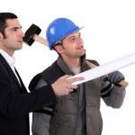 Carpenter and architect — Stock Photo #10843547