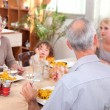 Family having a meal together — Stock Photo #10845962