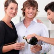 Friends with champagne glasses — Stock Photo #10846240