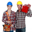 Tradespeople posing with their tools — Stock Photo #10846897