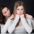 Sisters having an argument — Stock Photo