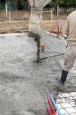Pouring concrete — Stock Photo