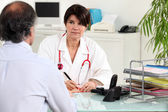 Patient and general practitioner — Stock Photo