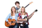 Young band rehearsing — Stock Photo